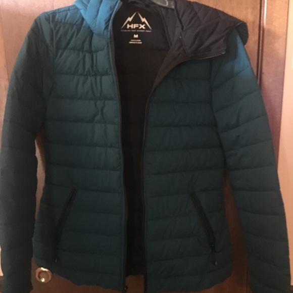 HFX Jackets & Blazers - Teal Puff HFX Coat